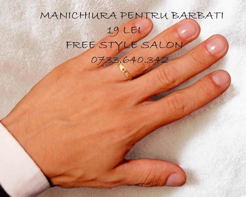 manichiura pentru barbati free style salon